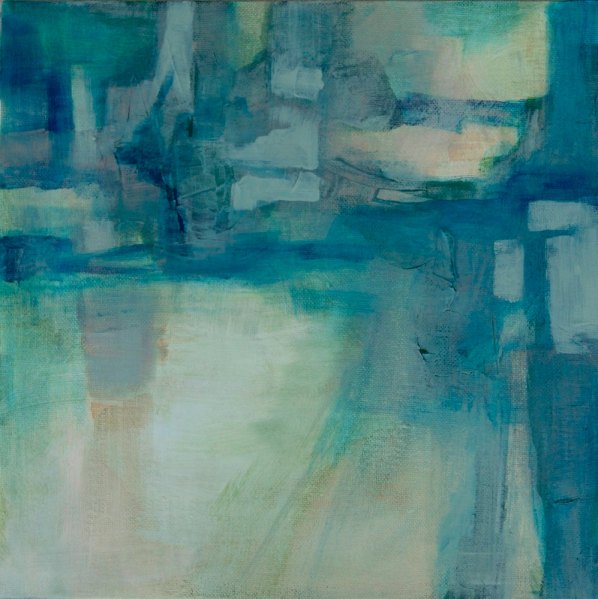 "'Untitled 818' 12""x12"" acrylic abstract by Victoria Kloch"